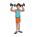 sport man weight lift fitness active vector image vector image
