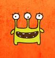 Three Eyed Alien Cartoon vector image vector image