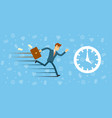 time management concept with running man vector image