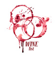 Watercolor emblem with wine stains vector image vector image