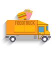 Food Truck Flat Design vector image