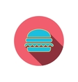 Hamburger icon Fast food sign vector image