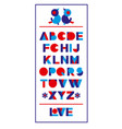 beautiful abstract poster with colorful alphabet vector image