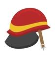 Fire helmet vector image