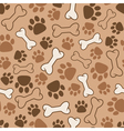 seamless dog pattern vector image