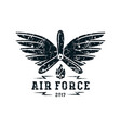 air force emblem vector image vector image