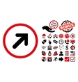 Arrow Right-Up Flat Icon with Bonus vector image vector image