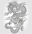 asian dragon vector image