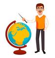 back to school teacher man cartoon character vector image