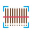 barcode postal transportation company icon vector image