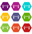 barrier icons set 9 vector image vector image