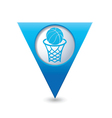 basketball BLUE triangular map pointer vector image vector image