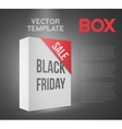 Black Friday Sale White Carton Box Template vector image