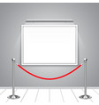 blank billboard on wall with rope barrier vector image