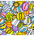 bright comic seamless pattern vector image