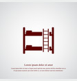 bunk bed icon simple vector image