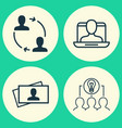 business icons set collection of collaborative vector image vector image