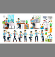 business man character working asian vector image