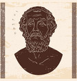 bust of the greek poet homer vector image