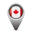 Canada pointer flag vector image vector image