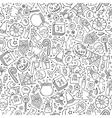 Cartoon cute hand drawn Halloween seamless pattern vector image vector image