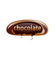chocolate word vector image vector image