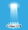 christmas party poster happy 2018 new year flyer vector image