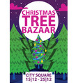 christmas winter tree bazaar sale saleable vector image vector image