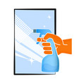 cleaning the window symbol vector image vector image