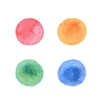 Colorful hand painted circle shape design elements vector image