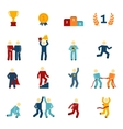Competition Icons Flat Set vector image