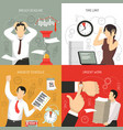 deadline 4 flat icons concept vector image