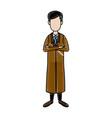 doctor medical staff folded arms standing people vector image vector image