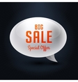element bubble big sale vector image vector image