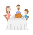 Family at table vector image