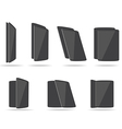 flat tablets different angles vector image vector image