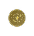 fleur de lis coat arms gold medal retro vector image vector image