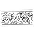 frieze undulate band is an italian renaissance vector image vector image