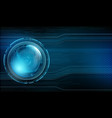 futuristic technology background vector image vector image