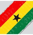 Ghana grunge flag vector image vector image