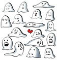 Ghost characters isolated on white background with vector image vector image
