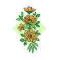 golden flower vector image