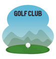 golf sport club with ball vector image
