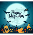 Halloween background of cheerful pumpkins vector image vector image