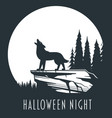 halloween night concept 01 vector image vector image