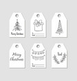 hand drawn christmas gift tags labels vector image vector image