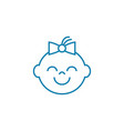 happy child linear icon concept happy child line vector image vector image
