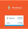 internet error logo design with business card vector image vector image