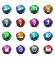 Jogging and workout icons set vector image vector image