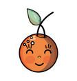 kawaii cute happy orange fruit vector image vector image